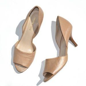 Franco Sarto Open Toe d'Orsay Leather Pump Size 12